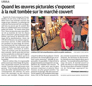 Nocturnes of art - L'Ile-Rousse