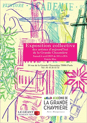Collective exhibition of today's artists of La Grande Chaumière