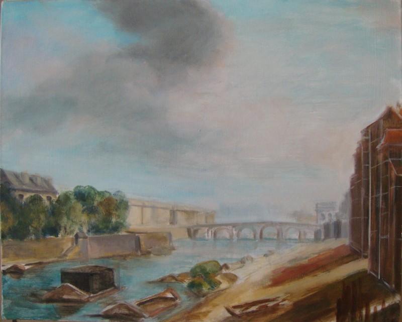 L'archevêché, l'ile St-Louis et le pont de la Tournelle