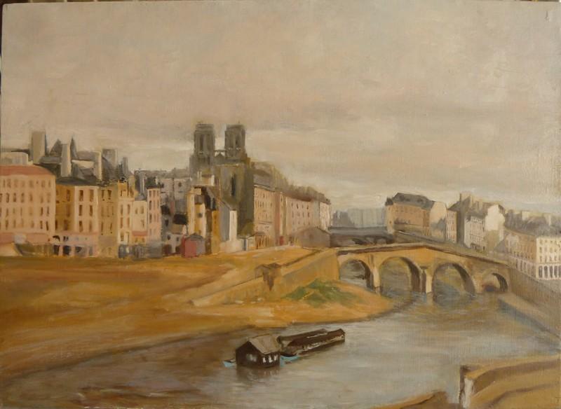 Le Quai des Orfèvres et le pont Saint-Michel
