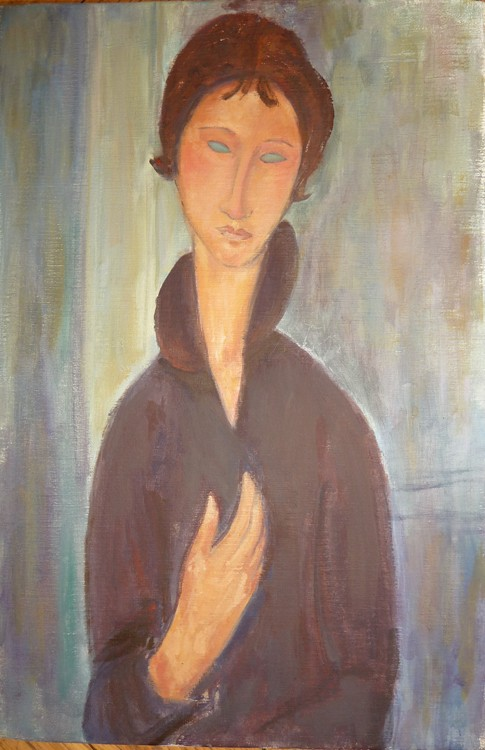 Femme aux yeux bleus